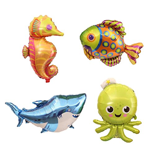(TOYMYTOY Gaint Cartoon Sea Animal Balloons Mylar Foil Balloon Balloons for Kids Birthday Party)