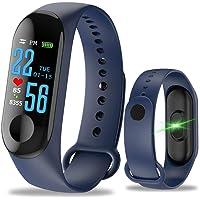 QingZhou Pulsera Inteligente de Actividad,M3 Smartband Bluetooth IP67 Impermeable Reloj Deportivo con Monitor de Actividad Fisica, GPS, Sueño y Ritmo Cardiaco