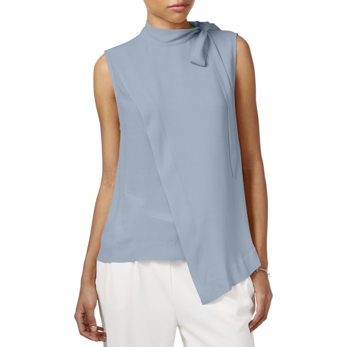 Rachel Roy Rachel Womens Mock Neck Sleeveless Pullover Top Light Sky/Blue X-Small RMST022094QZ