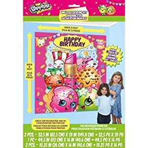 Amazoncom Shopkins Wall Decorating Set Photo Backdrop Birthday