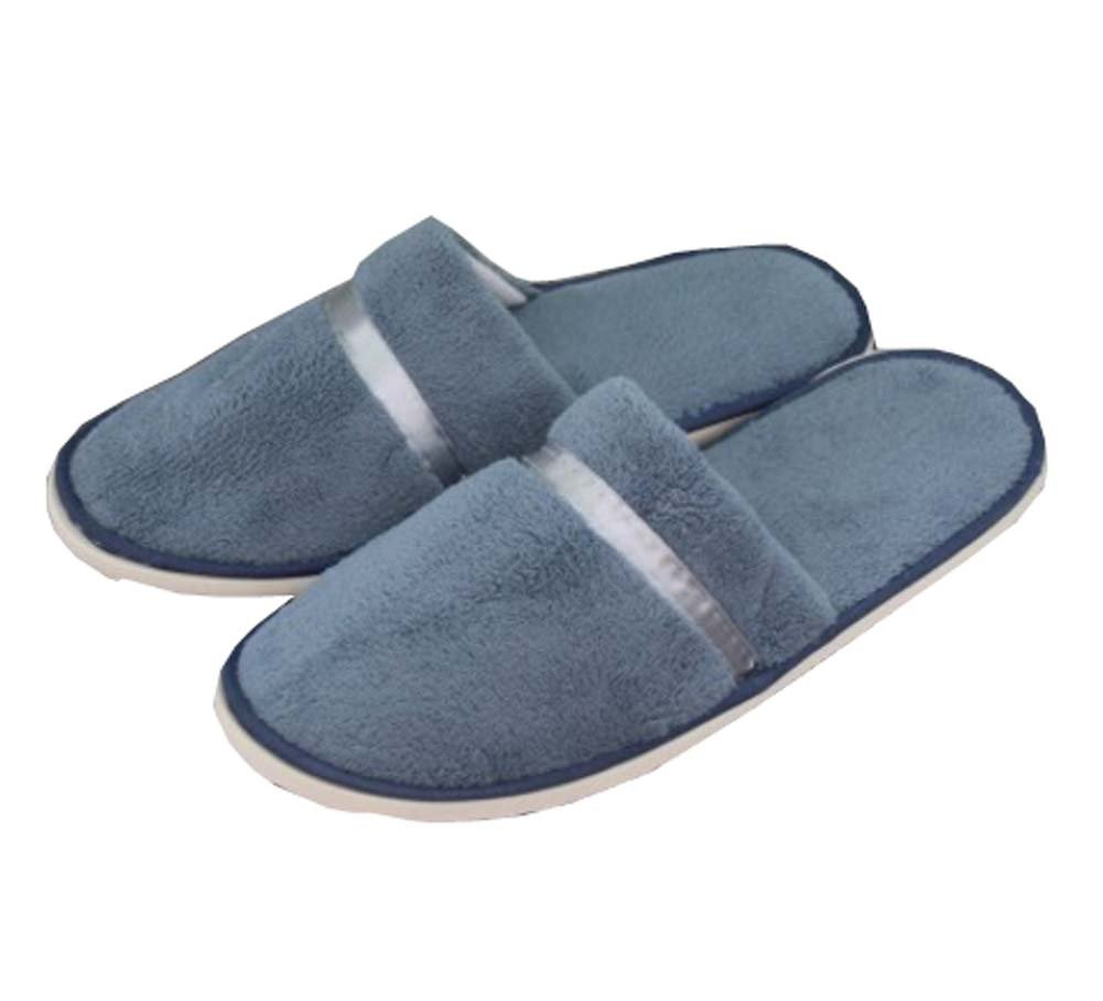 5 Pairs Hotel Disposable Slippers Disposable Spa/Salon Slippers,Gray Blue Black Temptation