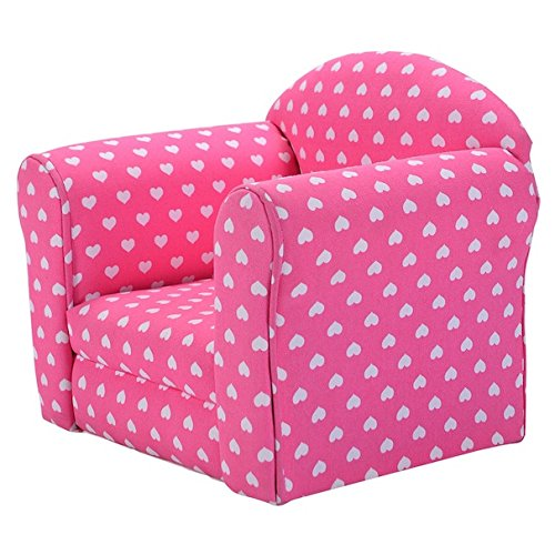 Pink With White Hearts Kids Sofa Armchair Armrest Chair Couch Sleeper Children Living Room Bedroom Playroom Toddler Indoor Outdoor Furniture Gift Set Lightweight (Rattan Outdoor Furniture Perth)