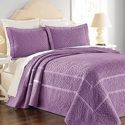 martha stewart bedding flowering trellis iris twin bedspread purple - Martha Stewart Bedding