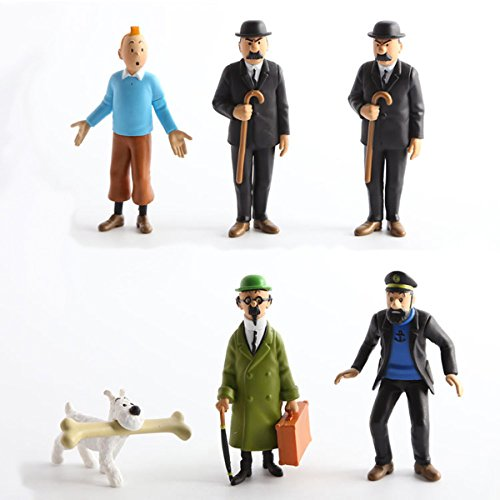 - Tintin The Adventures of 6 x 3 Figure Set Tin Tin Captain Handdock Calculus Thomson Snowy
