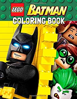 40 illustrations LEGO BATMAN Coloring Book for Kids and Adults