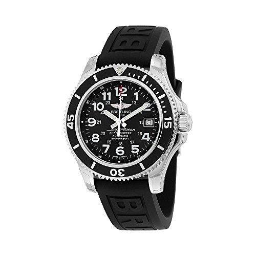 Breitling Superocean II 42 Black Dial Black Rubber Mens Watch A17365C9/BD67BKPT3