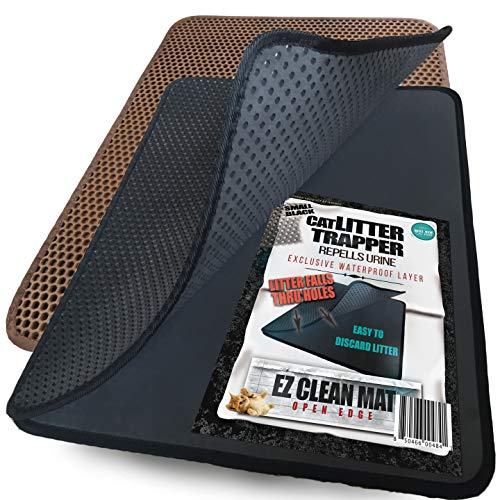 Litter Trapper Mat - iPrimio Small Cat Litter Trapper Litter Mat, EZ Clean Cat Mat, Litter Box Mat Water Proof Layer and Puppy Pad Option. Patent Pending. (23