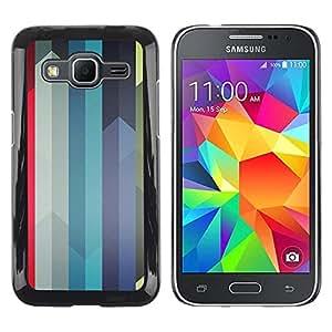 Be Good Phone Accessory // Dura Cáscara cubierta Protectora Caso Carcasa Funda de Protección para Samsung Galaxy Core Prime SM-G360 // Colorful Swords Lines