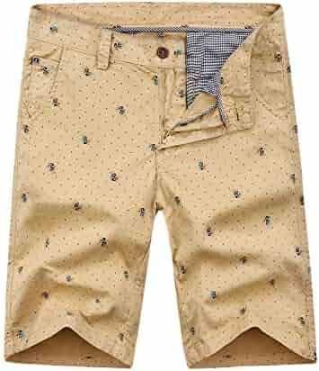 a177b6768b EAGLIDE Men's Slim Fit Casual Short, Mens Cotton Comfort Fashionable  Flat-Front Cargo Shorts