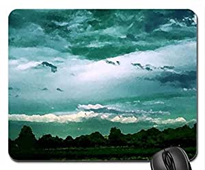 Undecided Blue Mouse Pad, Mousepad (Sky Mouse Pad, Watercolor style) by icecream design