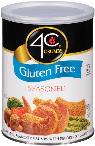 4C Crumbs-Seasoned, Gluten Free, 12 Ounce (Chicken Parmesan Bread Crumbs)