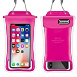 Gihery Waterproof Phone Pouch,Floatable IPX8 Universal Dry Bag up to 6.0'' Cellphone Waterproof Pouch Compatible with iphoneX/8Plus/8/7Plus/7/6S/6sPlus/6Plus/6 Samsung Galaxy S9/S9Plus/S8/S (red)