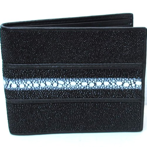 100 % GENUINE STINGRAY LEATHER BIFOLD WALLET (UNISEX) - Al Mobile Shopping Mall