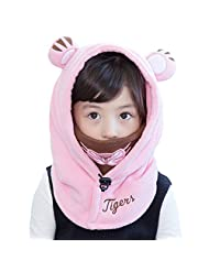 Baby Girls Boys Winter Warm Face Cove Hat Balaclava Windproof Skiing Cycling Mask