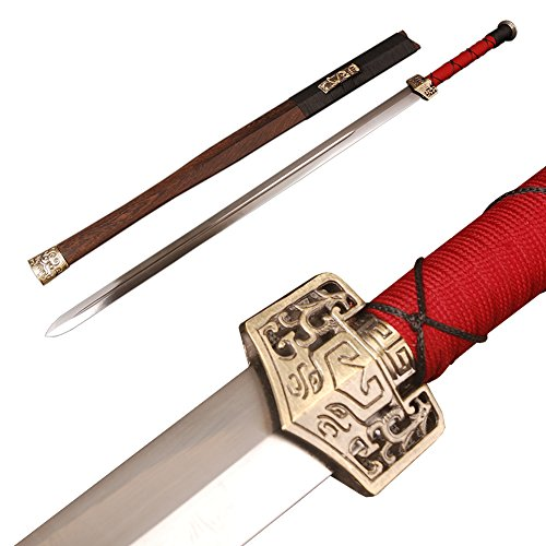 SAMURAI X Handmade Chinese Sword Han Dynasty Jian High Carbon Steel Rosewood Scabbard