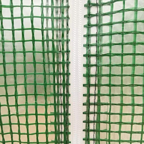 MTB Replacement UV Resistant PE Cover for Larger Walk-in Outdoor Gardening Greenhouse, 15'x7'x7'- 450x200x200cm, Green by MTB Supply (Image #3)