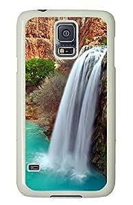 Samsung Galaxy S5 Grand Canyon Waterfall PC Custom Samsung Galaxy S5 Case Cover White