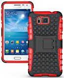 Heartly Flip Kick Stand Spider Hard Dual Rugged Armor Hybrid Bumper Back Case Cover For Samsung Galaxy Alpha 4G SM-G850FQ - Hot Red