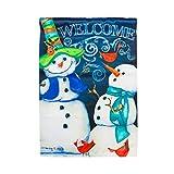 Evergreen Enterprises 14S3556 Snowman Welcome Garden Flag For Sale