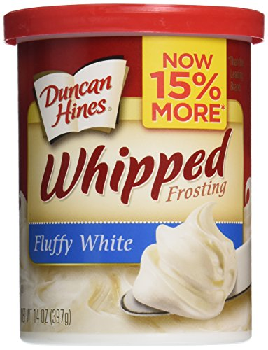 Duncan Hines Whipped Frosting, Fluffy White, 14 oz