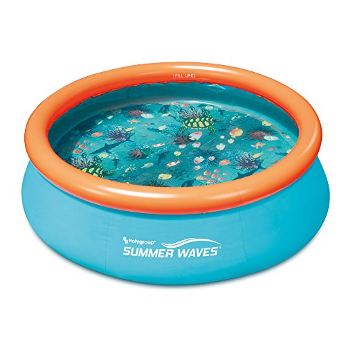 Summer Waves Small Kiddie 8 Inflatable Kids Swimming Pool With 3D Floor Pattern