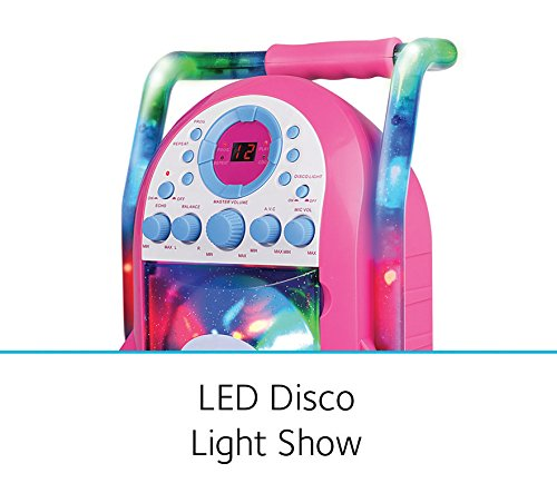 Singing Machine Portable Vertical Load CDG Player with Disco Effect, Pink by Singing Machine (Image #3)