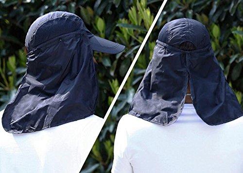 Windundurchl/ässigem Streifen-breiter Rand Sonnenhut Fischerhut f/ür Mann Frauen,Tukistore UVF-Sonnenschutz im Freien UPF 50 mit entfernbarer Hals-Flap-Gesichts-Abdeckungs-Maske u