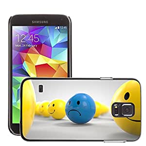 Hot Style Cell Phone PC Hard Case Cover // M00044379 ball sad artistic 3d // Samsung Galaxy S5 i9600