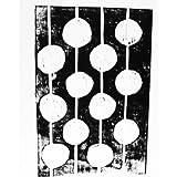 Bulbs Black and White Linocut