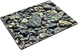 Liili Placemat Natural Rubber Material River rock abstract Photo 20750172