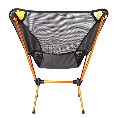 MIJORA-Aluminum Folding Camping Chair Seat For Outdoor Fishing Hiking Beach Picnic Tool(yellow) by MIJORA (Image #1)
