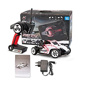 1:28 30km/h 2,4Ghz Radio Control High Speed Electric Car Buggy 4 Wheels Metal Chassis Driving RC Car 4WD Off Road Hobby Fan Collection