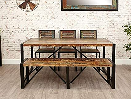 Sensational Amazon Com Vintage Industrial Dining Table Large Rustic Short Links Chair Design For Home Short Linksinfo