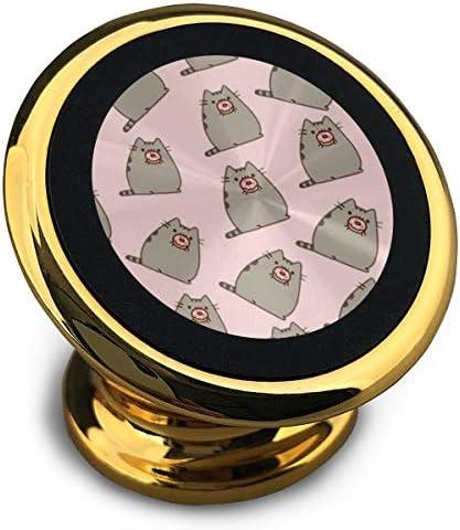 猫のクッキー 携帯電話ホルダー おしゃれ 車載ホルダー 人気 磁気ホルダー 大きな吸引力 サポートフレーム 落下防止 360度回転