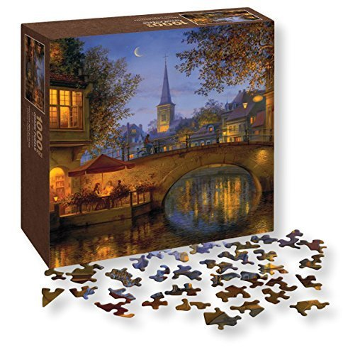 Wells Street By Lang Twilight Reflections Puzzle By Evgeny Lushpin 1000 Piece By Lang