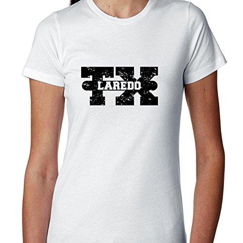 Laredo, Texas TX Classic City State Sign Women's Cotton T-Shirt]()