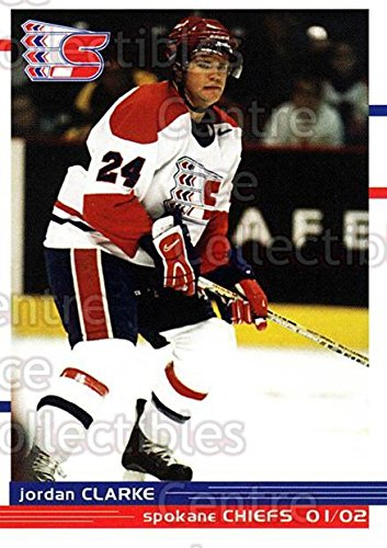 (CI) Jordan Clarke Hockey Carte de visite 2001-02 Spokane Chiefs 5 Jordan Clarke