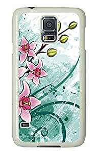 Samsung Galaxy S5 Nature Flowers 2 PC Custom Samsung Galaxy S5 Case Cover White