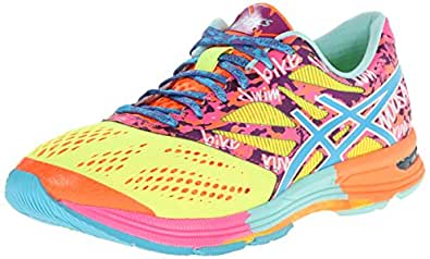 ASICS Women's Gel-Noosa Tri¿ 10 Flash Yellow/TURQ/Flash Pink 6 B - Medium