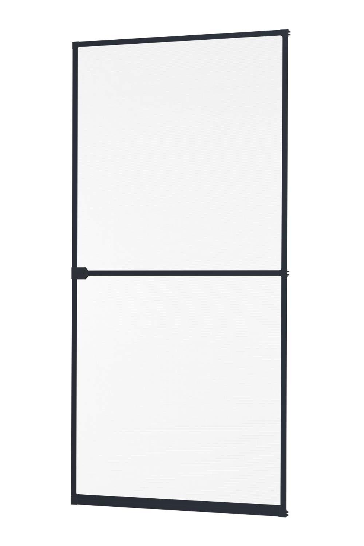 Insektenschutz Fliegengitter Tü r Alurahmen START in weiß , braun oder anthrazit 100 x 210 cm empasa