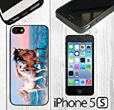 iphone 5 case custom made - Two Beautiful Horse Beach Custom made Case/Cover/Skin FOR iPhone 5/5s -Black- Rubber Case (Ship From CA)
