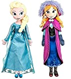 Disney Frozen Princess Elsa & Anna Doll Set Featuring 20″ Plush Dolls (2-Pack)