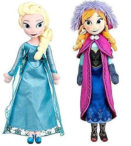 Disney Frozen Princess Elsa & Anna Doll Set Featuring 20 Plush Dolls (2-Pack)