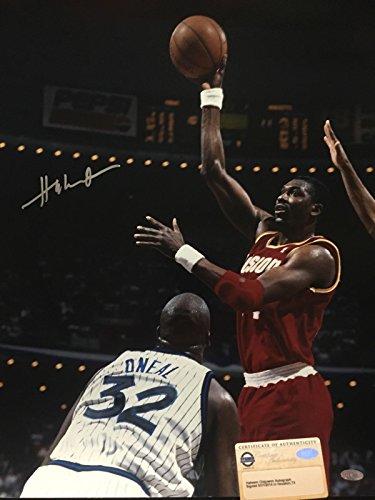 Autographed/Signed Hakeem Olajuwon Houston Rockets 16x20 Basketball Photo Steiner Sports COA #2