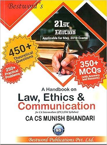 Buy Munish Bhandari's A Handbook On Law, Ethics And