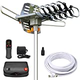 InstallerParts Amplified Outdoor HDTV Antenna -- 150 Miles Long Range -- Motorized 360