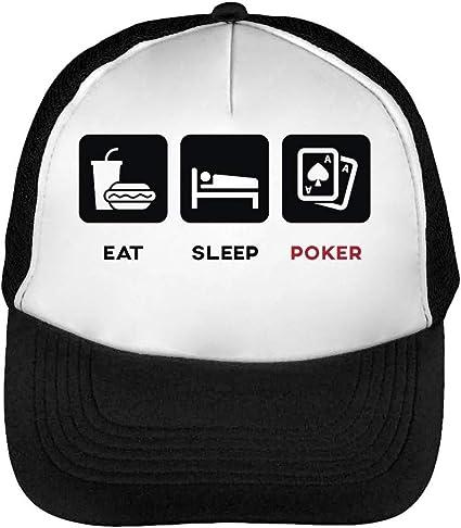 Eat Sleep Poker Funny Slogan Gorras Hombre Snapback Beisbol Negro ...