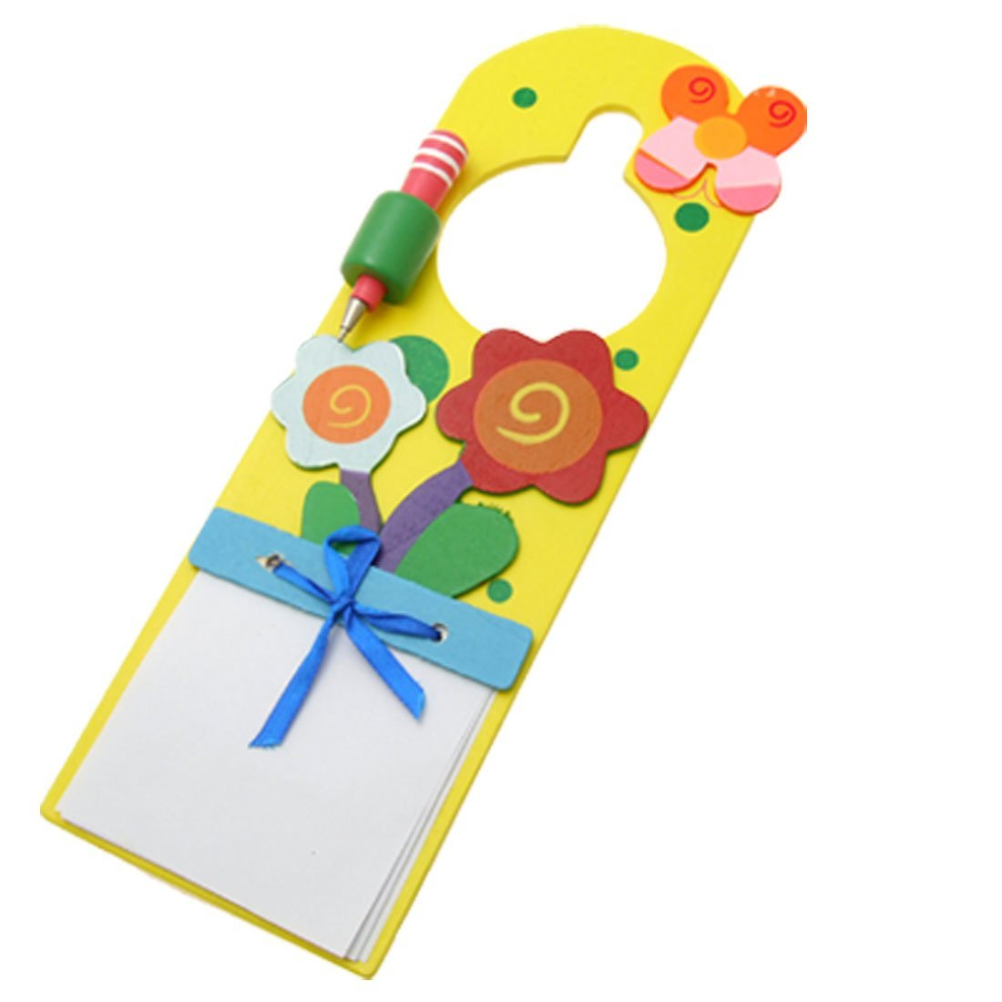 Uxcell Wooden Flower Print Memo Message Board, Colorful