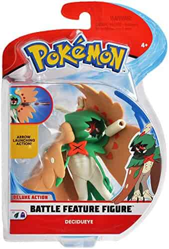 Pokemon 4.5 Inch Battle  Feature Figure, Features Arrow Attack Decidueye