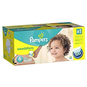 Pampers Swaddlers Disposable Diapers Size 6, 100 Count, ECONOMY PACK PLUS